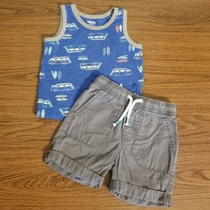 Baby Boy 2-Piece Summer Outfit Size 12-18M